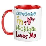 XCNGG Someone In Michigan Loves Me Mug Taza de café única, taza de café