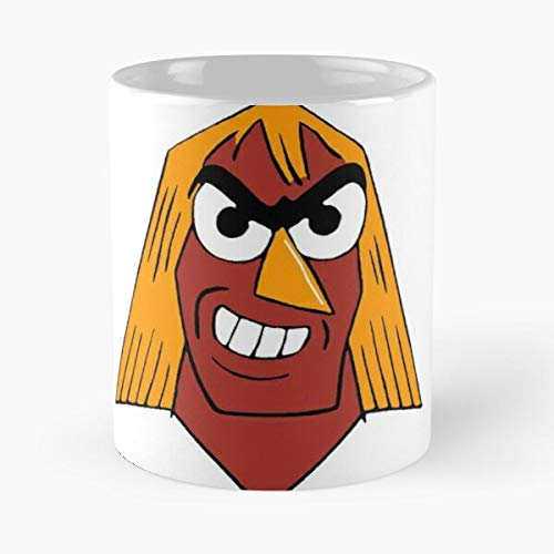 mconcepts Adult Xavier Swim Renegade Cartoon Networking Xra Angel La Mejor Taza de café de cerámica de mármol Blanco de 11 oz