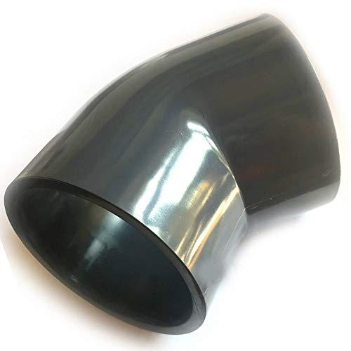 Adrenalin-Fishing PVC-U Fittinge 50mm Winkel Bogen 45° Druckklasse PN 10 = 10 bar nach DIN 8063 mit 2 X Klebemuffe für Koiteich & Gartenteich