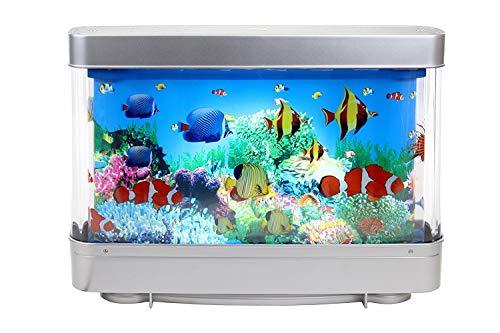 Aquarium Motion Lamp - Decorative Table Lamp, Night Light with Moving Aquarium