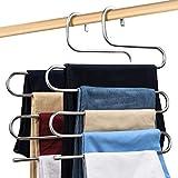 Percha para Pantalones, Ahorro de Espacio, Perchas para Ropa, S Tipo Organizador de Pañuelos para...
