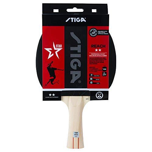 Stiga 2-Star Reach Raquette de Tennis de Table, Noir/Rouge
