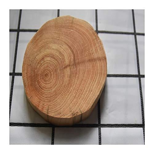 LUOSI DIY Geschirr Dekoration Natürliche Runde Holz Untersetzer Becher Pad Tee Kaffee Becher Matte Getränke Halter DIY Handwerk Home Küche Dekor (Color : 9 10cm, Shape Style : Round)