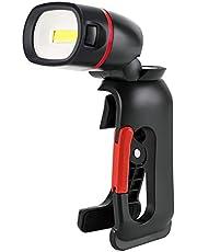 Klem op Torch Inspectielamp - Clip On Werklamp COB 210 Lumen Klem 360 ° Rotatie Klem Zaklamp voor Outdoor Camping Workshop Auto Reparatie, Aangedreven door 3 AAA Batterij (niet inbegrepen)