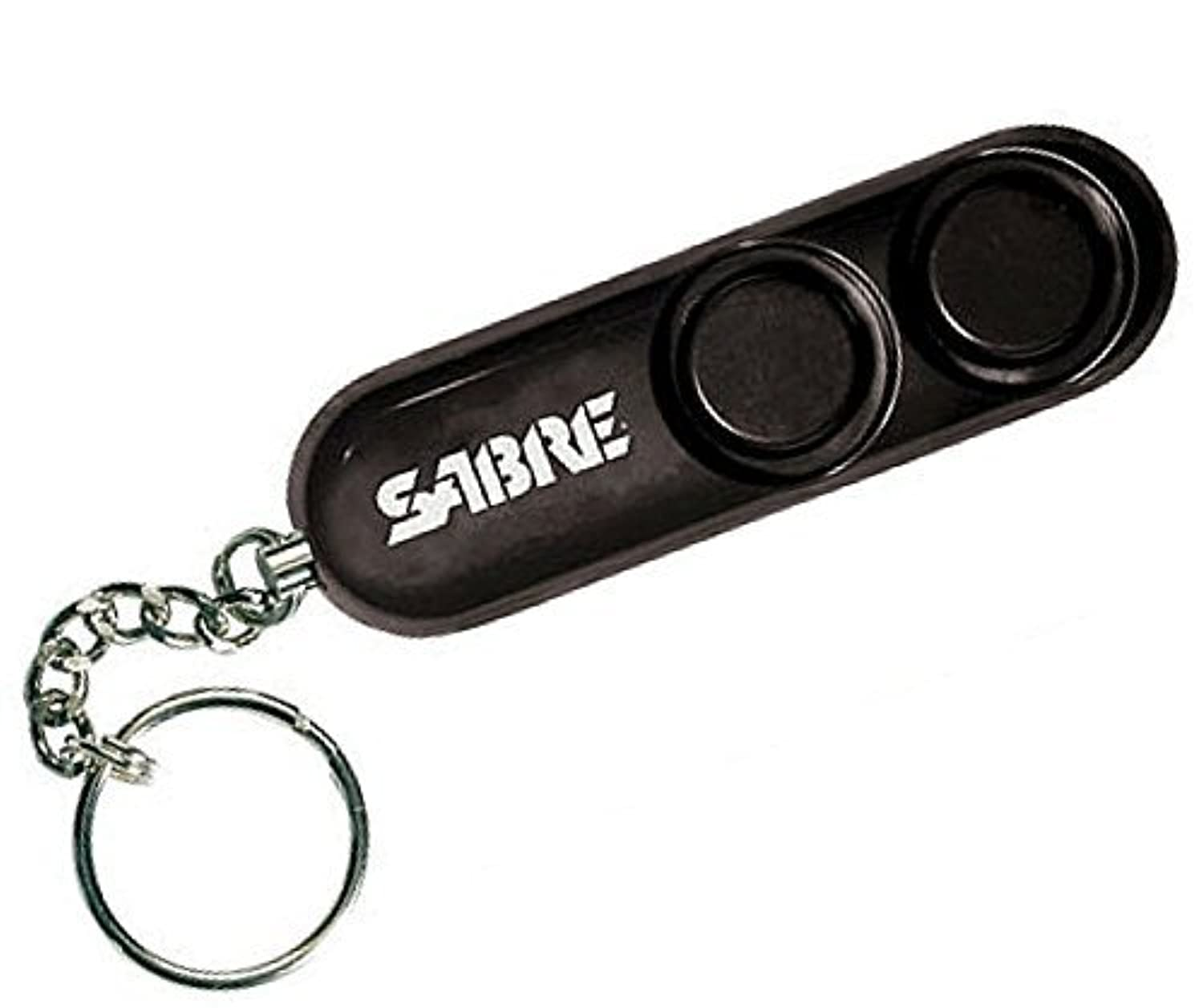 SABRE Personal Self-Defense Safety Alarm on Key Ring with LOUD Dual Alarm Siren Heard up to 600 ft/185 meters Away. To Use, Pull Metal Chain from Base [並行輸入品]