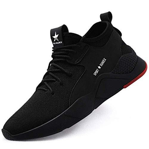 SUADEEX Zapatos de Seguridad Hombre Zapatos de Seguridad Mujer Ligeras Transpirable con...