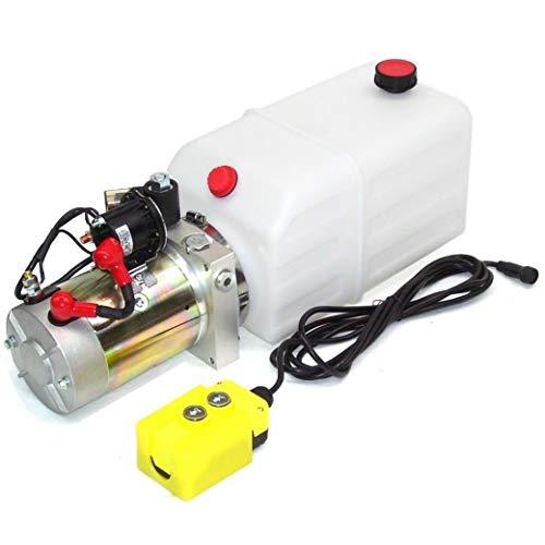 Hydraulikaggregat Hydraulikpumpe Pumpe 12V 180bar LKW Kipper Anhänger Hydraulik 55343 8L AWZ