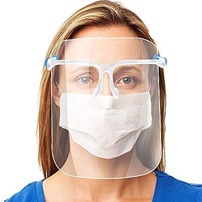 ✔ Protección facial: protege los ojos, la nariz y la boca de aerosoles, salpicaduras de líquidos y polvo. Adecuado para el hogar, la tienda, la industria de la restauración o el uso médico dental. ✔ Diseño inteligente: el diseño elevado en la parte d...
