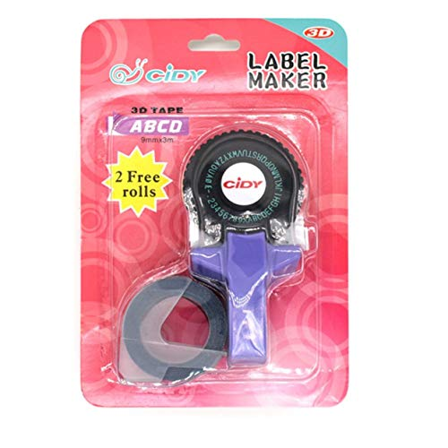 YXDS Labeling Machine Portable Mini Manual Label Maker DIY 3D Embossing Label Writer Printer Typewriter