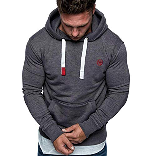 FRAUIT Männer Sweatshirt Langarm Herbst Winter Herren Kapuzenpullover | Sale | Casual Sweatshirt Hoodies Top Bluse Trainingsanzüge (XL, Dunkelgrau2)