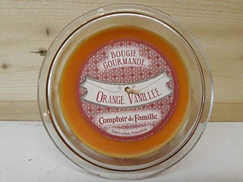 Comptoir de Famille Bougie gourmande parfumée Orange vanillée Verre Transparent 35 x 23,5 x 9 cm 45h Environ