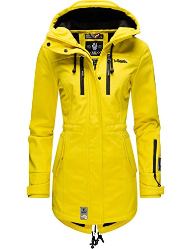 Marikoo Damen Softshell-Jacke Outdoorjacke Zimtzicke Yellow Gr. M