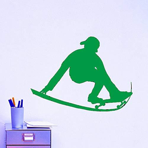 Zaosan Schwarzer Kunststoff Schlittschuhe Skateboard Sport Wandsticker Extremsport Serie Home Spezial Deko Wand EIS Ärmel schwarzer Kunststoff Tapete97x81cm