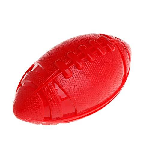 PINH-lang Hundebälle, Rugbyball, TPR-Gummi-Spielzeug, interaktiv, schwimmend, für Hunde und Katzen, zum Kauen, oval, ungiftig, für kleine und große Hunde