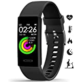 Fitness Tracker MorePro 2021 Temperature Heart Rate Blood Pressure Monitor IP68 Waterproof Sport Smart Watch,Sleep Tracking Pedometer Calories Counter Health Bracelet for Women Men Kids