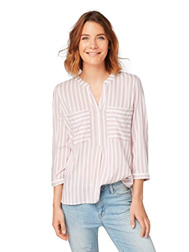 TOM TAILOR Damen 20556630971 Bluse, Rosa (Dusty Rose 5119), Small