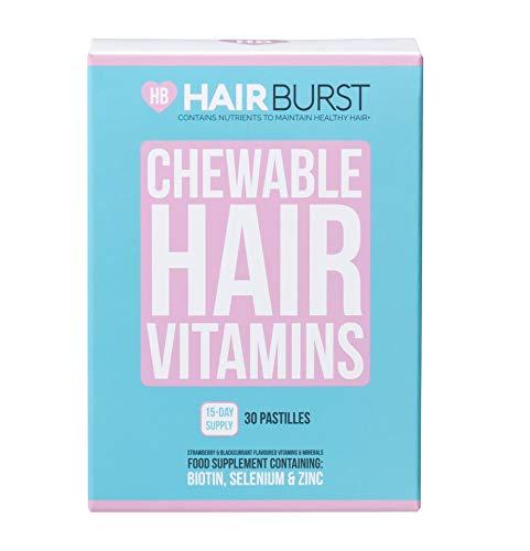 Hairburst Biotin Kau-Vitamine 15 Tage Vorrat 30 Gummies Haar-Vitamine für Wachstum und Haarausfall Reisegröße für längeres, stärkeres und dickeres Haar