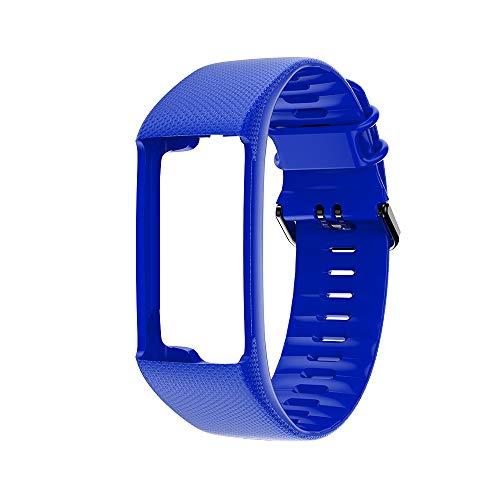 WARMTOWER Geeignet für Polar A360 Polar A370 Armband Smart Armband Ersatzband Schwarze Schnalle, A370 Fitness Tracker kompatibel mit weichem Silikonband Sportarmband