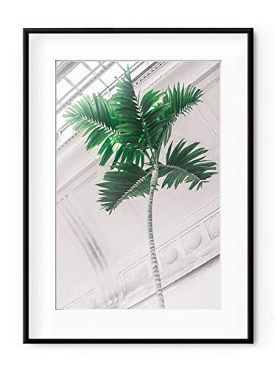 Inside The Green House 7 Satin Black Aluminium Frame with Mount, Multicolored, 40x50