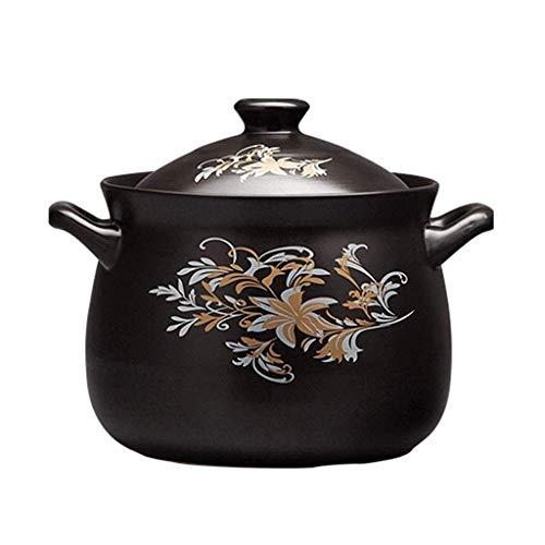 Casserole faitout Céramique Céramique grande qualité Vaisselle Casserole Casserole Cuisinière spécial for Cooker Cuisine marmite à soupe (Taille: 5L) Zixin (Size : 2.5L)