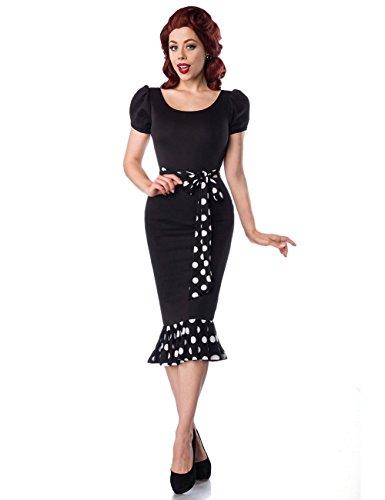 Atixo sukienka dżersejowa w stylu retro - czarna/biała