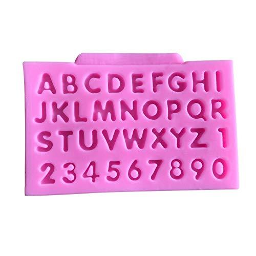 dyudyrujdtry DIY 26 Alfabet Letters Silicone Mold, Herbruikbare Siliconen Vorm Gereedschap voor het maken van Chocolades Harde snoepjes Desserts Ice Cube Kaars Zeep Cake Decor roze