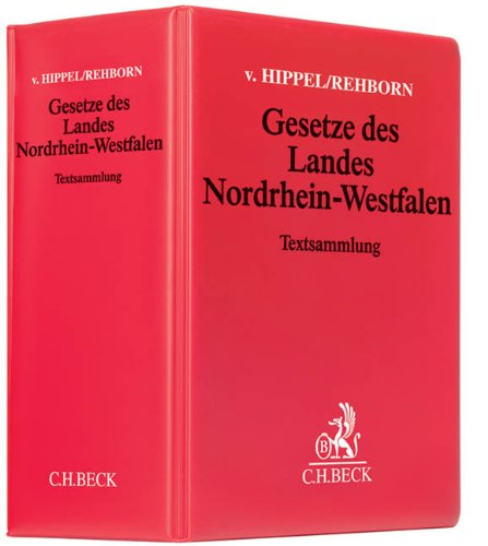 Gesetze des Landes Nordrhein-Westfalen: Rechtsstand: 15. Januar 2020