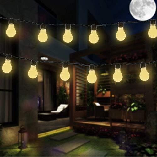 SUAVER Led-lichtsnoer op zonne-energie, waterdicht, buitenverlichting met 10 stuks bolvormige ledbolletjes, kerstverlichting, decoratieve verlichting voor tuin, terras, binnenplaats, huis, party