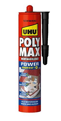 UHU Poly Max Express Kartusche, Universeller Montageklebstoff und Dichtmittel mit hoher Endfestigkeit, schwarz, 425 g