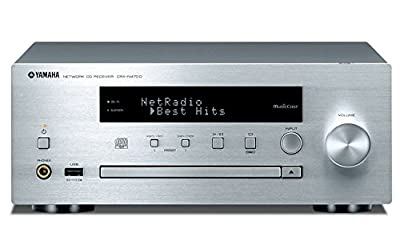 Yamaha MusicCast CRXN470D Compact Audio System with Built in Wifi, Airplay & Bluetooth - Silver by YAMA6