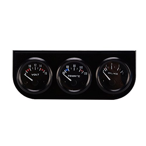 52MM 3 en 1 Compteur Voltmètre Capteur Jauge de Pression D'Huile Température de L'Eau Pour Voiture