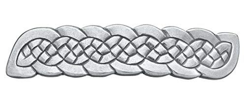 DANFORTH - Celtic Knot Large Pewter Barrette - 3 1/2 Inches Long - 3/4 Inches High - Handcrafted in Vermont with a French Clasp