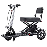 JCOCO Multifunction Foldable Two-Seater Travel Scooter, Electric Luggage Trolley,Transformer Folding Scooter for Adults and Seniors, Lightweight Lithium Battery, Airline Approved