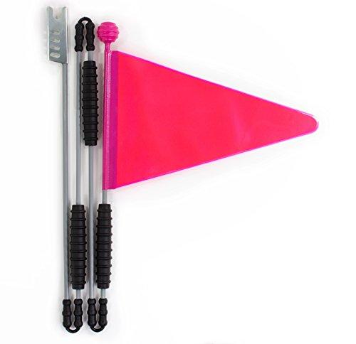 Cycley | Fahrradwimpel | Fahrradfahne für Kinderfahrrad | Pink Reflektierend | 4-teilig | Wimpellänge 160 cm | z.B. Sicherheitswimpel für Laufrad … (Grau/Pink)