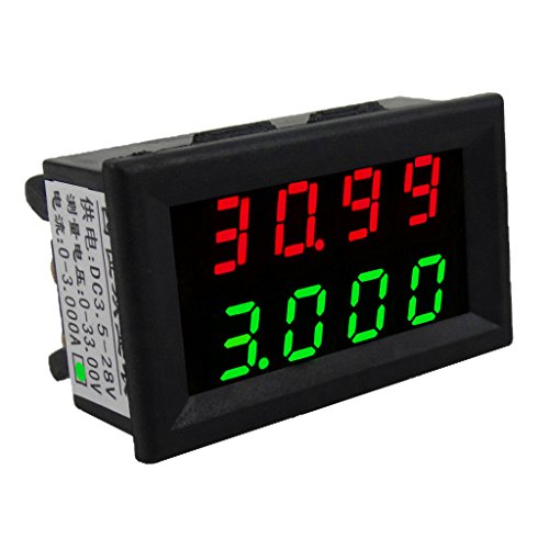 Gazechimp Mini Digital-Amperemeter / Voltmeter Dual LED Display Strom Spannung Tester - Grün