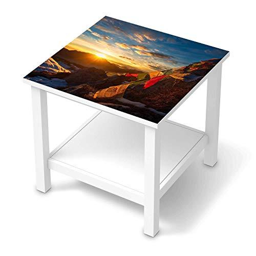 creatisto Möbeltattoo passend für IKEA Hemnes Beistelltisch 55x55 cm I Möbeldekoration - Möbel-Aufkleber Folie Tattoo I Deko DIY für Schlafzimmer, Wohnzimmer - Design: Tibet