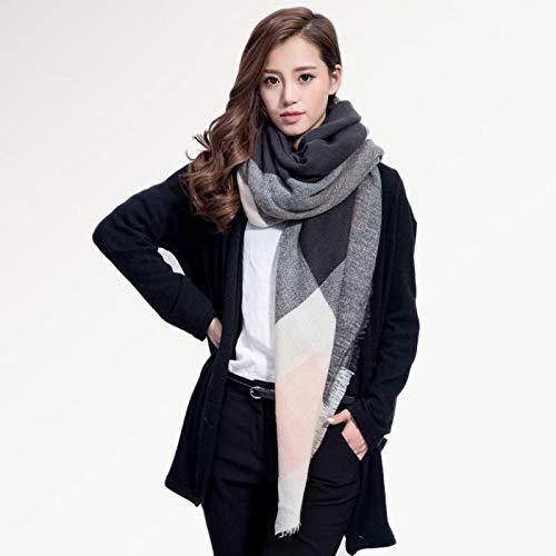 Schal Damen Schal Damen Mode Schals Hochwertige Decken Weicher Winterschal Warmer Quadratischer Plaid-Schal 15