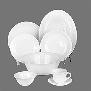 Arcopal 38 Pc Dinnerware Set | Combination Set with 1Pc Oval Plate+ 6PCs Dinner Plate+ 6PC Rice Plate+ 6pcs Dessert Plate+...
