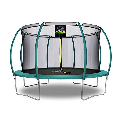 Moxie 6ft 8ft 10ft 12ft 15ft 16ft Trampoline Set, Premium Top-Ring Safety Enclosure Frame Net Pad...