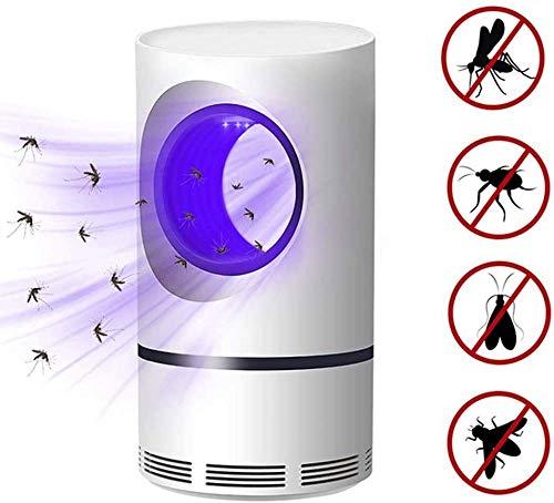 ZLNX Matador De Mosquitos, Luz UV Atrapa Moscas, Ahorro De Energía Seguro Cómodo, Silencioso, Saludable para Habitación De Bebé Uso De La Oficina De La Cocina (Blanco)