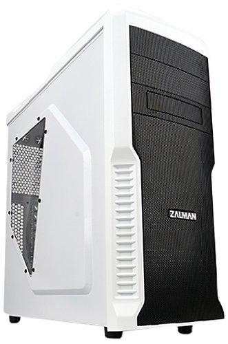 Zalman Z3 Plus (WH) Midi-Tower PC-Gehäuse mit Fenster (ATX/Micro-ATX, 2X Externe 5,25, 4X interne 3,5, USB 3.0)