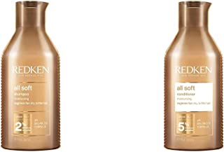Redken All Soft Shampoo 300Ml + Balsamo 300Ml | Routine Professionale, Dona Idratazione e Brillantezza ai Capelli Secchi e...