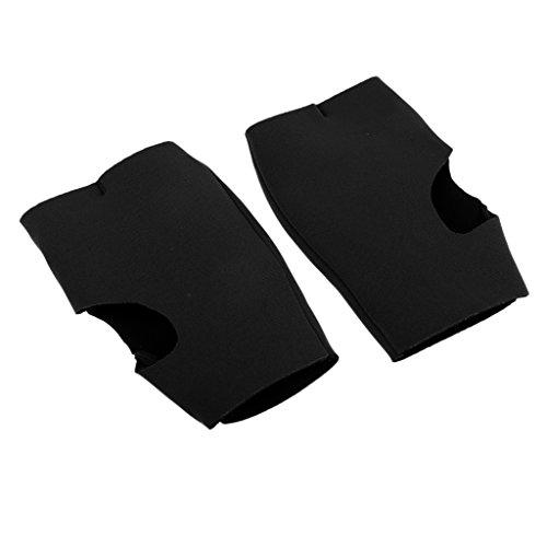 F Fityle 1 Paar Neopren Kajak Paddel/Rudergriff Handschuhe Handflächenschutz für Effizientes Paddeln - Schwarz, S