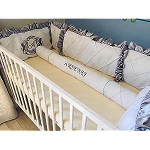 Bettnestchen Babynestchen Bettumrandung Nestchen Babybett personalisiert