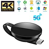 ATETION Adaptateur d'affichage sans Fil 5G / 2.4G WiFi Dongle Adaptateur d'affichage 1080P HD / Chromecast TV / Airplay / Miracast pour MacBook / Android / / iPhone X S Max