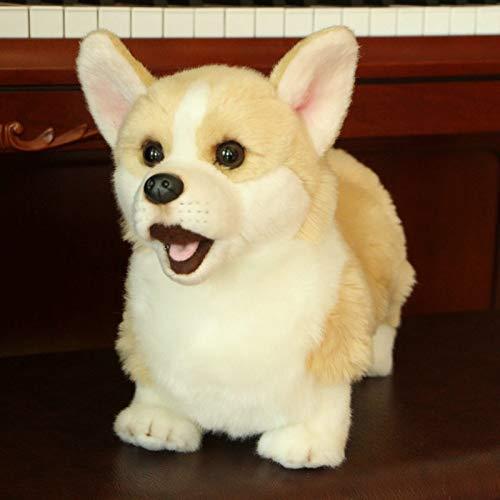 GHJU Plüschtier Plüsch kurzbeiniger Corgi-Hund Puppe Simulation Hund Stofftier Spielzeug super realistisches Hundespielzeug for Hundeliebhaber Wohnkultur Haustier Qingqiao