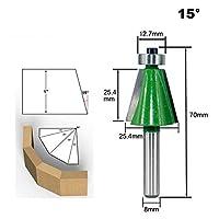 8 ミリメートルシャンク 11.25/15/22.5/30/45 度ほぞルータービット木材ジョイントビット木工フライス Cnc ツールビット-15 degree