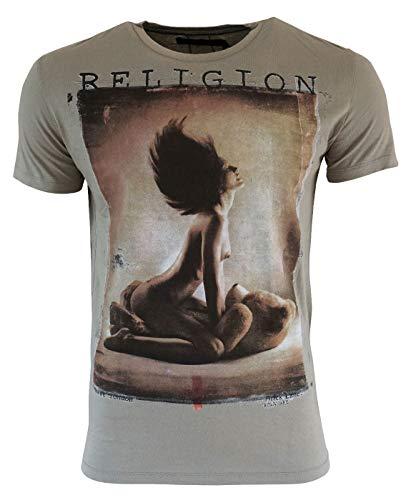 Religion Love Teddy - Camiseta para hombre Flint M