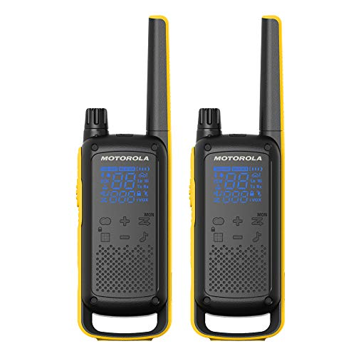 Motorola Solutions T475 Extreme Two-Way Radio Black W/Yellow Rechargeable Two Pack