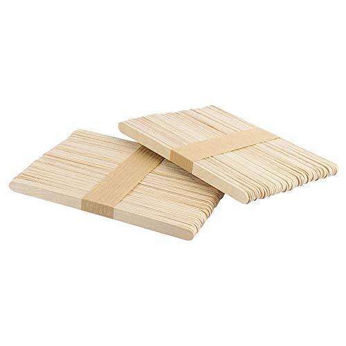 Holzstäbchen | Holzspatel | 14 cm lang, 1 cm breit | 100 Stück |